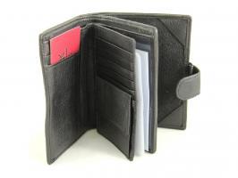 Стильное кожаное портмоне Petek 1-3104 Black_1