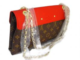 Женская сумка-конверт Louis Vuitton (Луи Виттон) 41200 Red_1