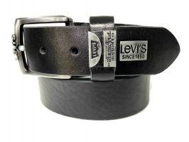 Ремень кожаный Levis black 150_2