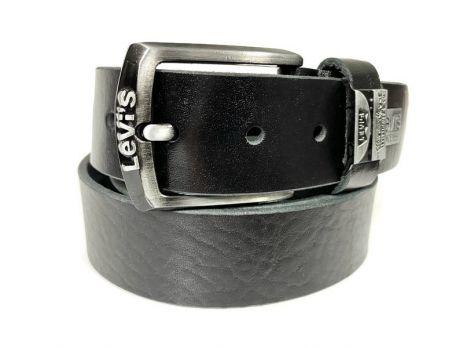 Ремень кожаный Levis black 150