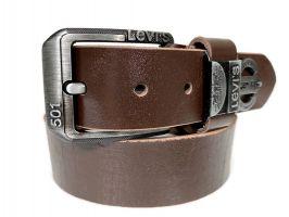 Кожаный ремень Levi's brown_1