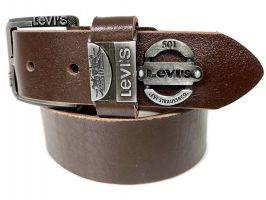 Кожаный ремень Levi's brown_2