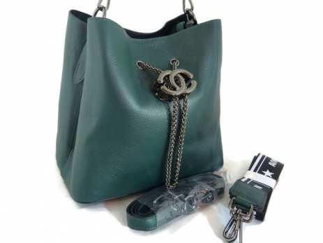 Сумка кожаная Chanel (Шанель) green