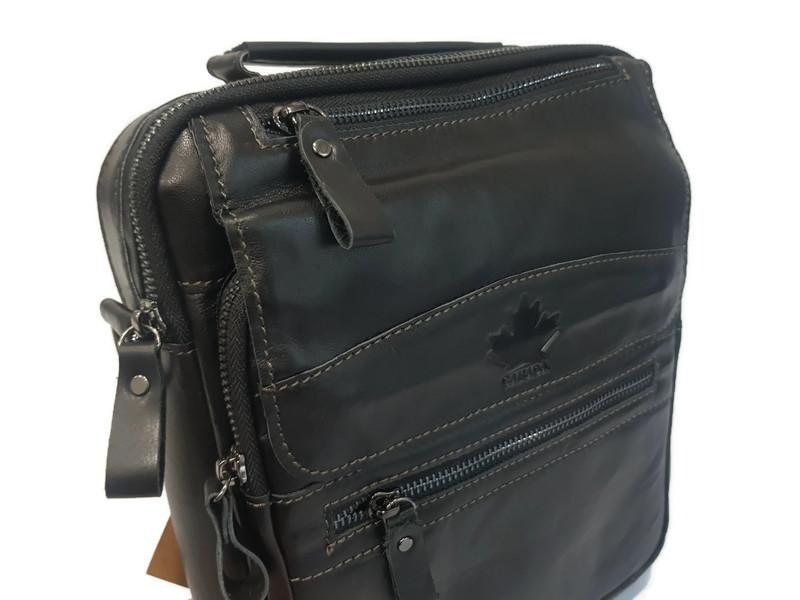 Кожаная мужская сумка Canada 6003 black