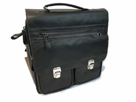 Мужская кожаная сумка-портфель Canada 5002 black