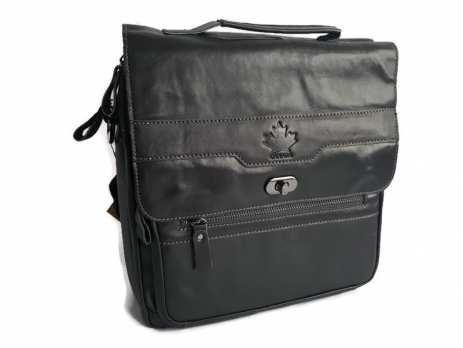 Сумка-портфель кожаная Canada 5001 black