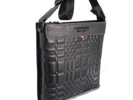 Кожаная сумка-планшет Burberry_0