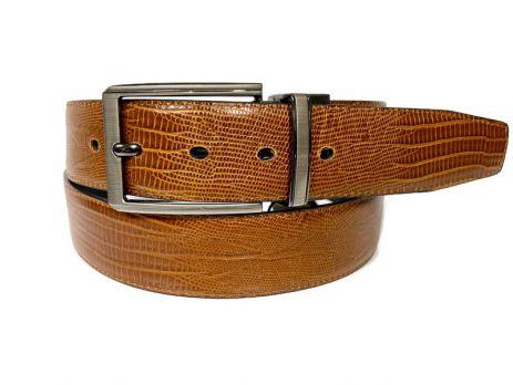 Ремень кожаный двусторонний Алон Z-401124