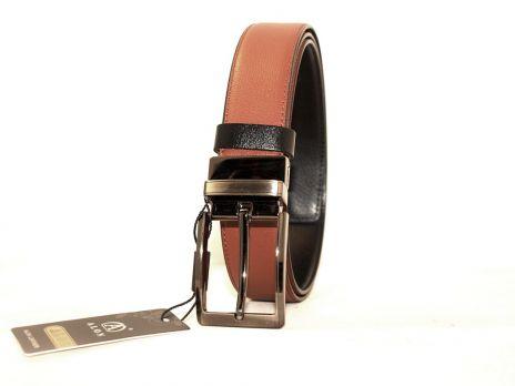 Ремень кожаный двухсторонний Алон Z350715