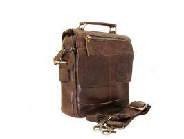 Кожаная мужская сумка ZZNICK 6507 brown_0