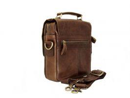 Кожаная мужская сумка ZZNICK 6507 brown_1