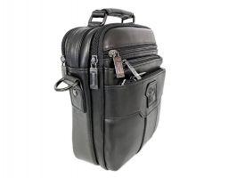 Кожаная мужская сумка Fuzhinino 6603 black_2