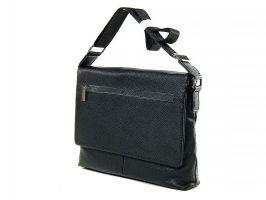 Кожаная мужская сумка А4 0982-4 black_1