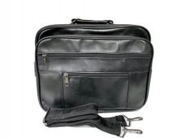 Мужская кожаная сумка портфель black 1028_0