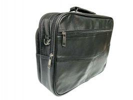 Мужская кожаная сумка портфель black 1028_3