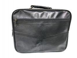 Мужская кожаная сумка портфель black 1028_2