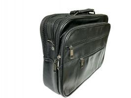 Мужская кожаная сумка портфель black 1028_1