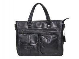 Мужская кожаная деловая сумка 8806-3 black_0