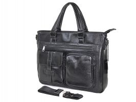 Мужская кожаная деловая сумка 8806-3 black_1