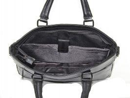 Мужская кожаная деловая сумка 8806-3 black_4