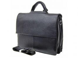 Сумка-портфель кожаная мужская 9929-3 black_0