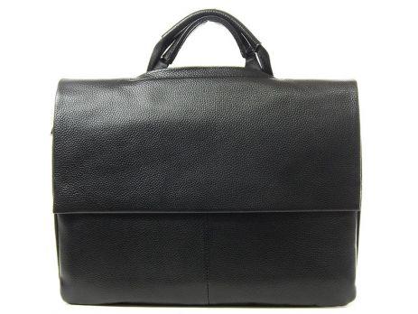 Сумка-портфель кожаная мужская 9929-3 black