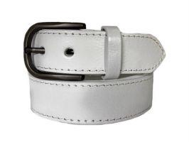 Ремень кожаный белый RMBG-3511