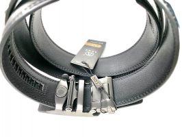 Ремень кожаный Алон автомат T-850106 чёрный_3