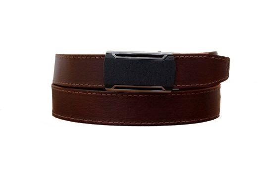 Коричневый кожаный ремень зажим MZB-3501br