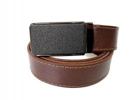 Ремень кожаный с пряжкой зажим MZB-3503br_1