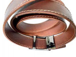 Ремень кожаный с пряжкой зажим MZB-3503br_2