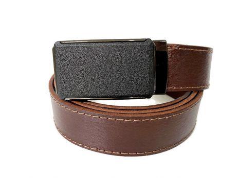 Ремень кожаный с пряжкой зажим MZB-3503br