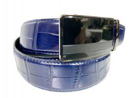 Кожаный ремень синий Alon B-40005_1