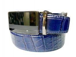 Кожаный ремень синий Alon B-40005_2