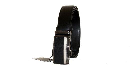 Ремень кожаный Алон T-850137 черный