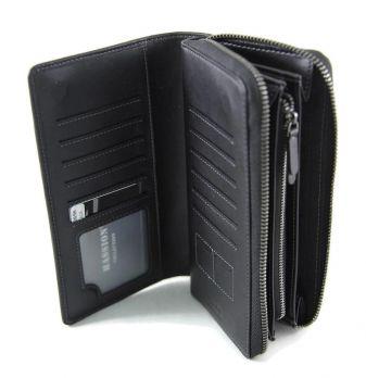 Клатч мужской кожаный Hassion H-089B Black
