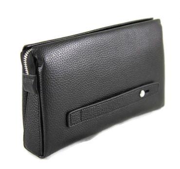 Сумка клатч кожаный AJ 1129-2 Black