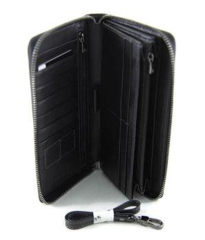 Мужской клатч из натуральной кожи Hassion h-068 Black