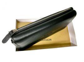 Клатч кожаный Hassion M026-260A Black_1