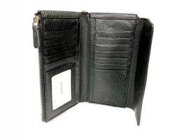 Клатч кожаный Hassion M026-260A Black_2