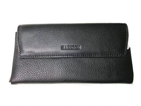 Клатч кожаный Hassion M026-260A Black