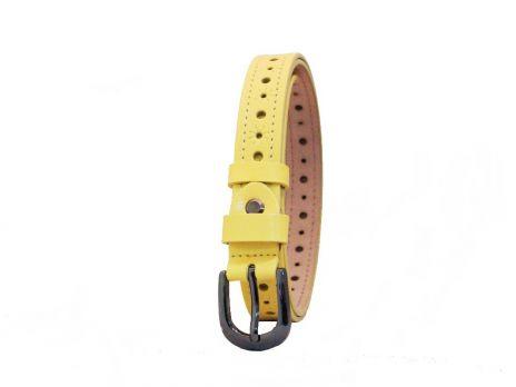 Женский кожаный ремень жёлтый K2505Q-2.5y