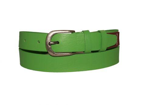 Кожаный женский ремень зелёный AWG-3001g