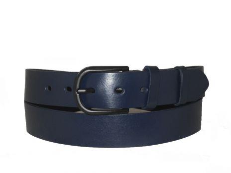 Женский синий кожаный ремень AWG-3501bl