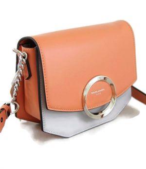 Сумка кросс-боди женская David Jones 6228-1 Orange/L.Grey