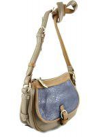 Женская сумка седло Chansler 5582 Khaki/Brown