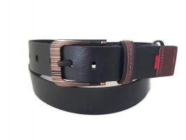 """Ремень кожаный чёрный """"Медведь"""" RMK-4045b"""