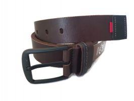 """Ремень кожаный коричневый """"Медведь"""" RMK-4045br_1"""