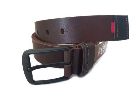 """Ремень кожаный коричневый """"Медведь"""" RMK-4045br"""