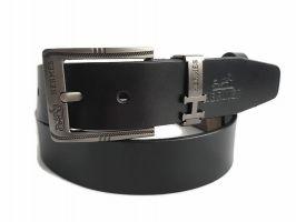 Ремень кожаный Hermes 2487 black_2
